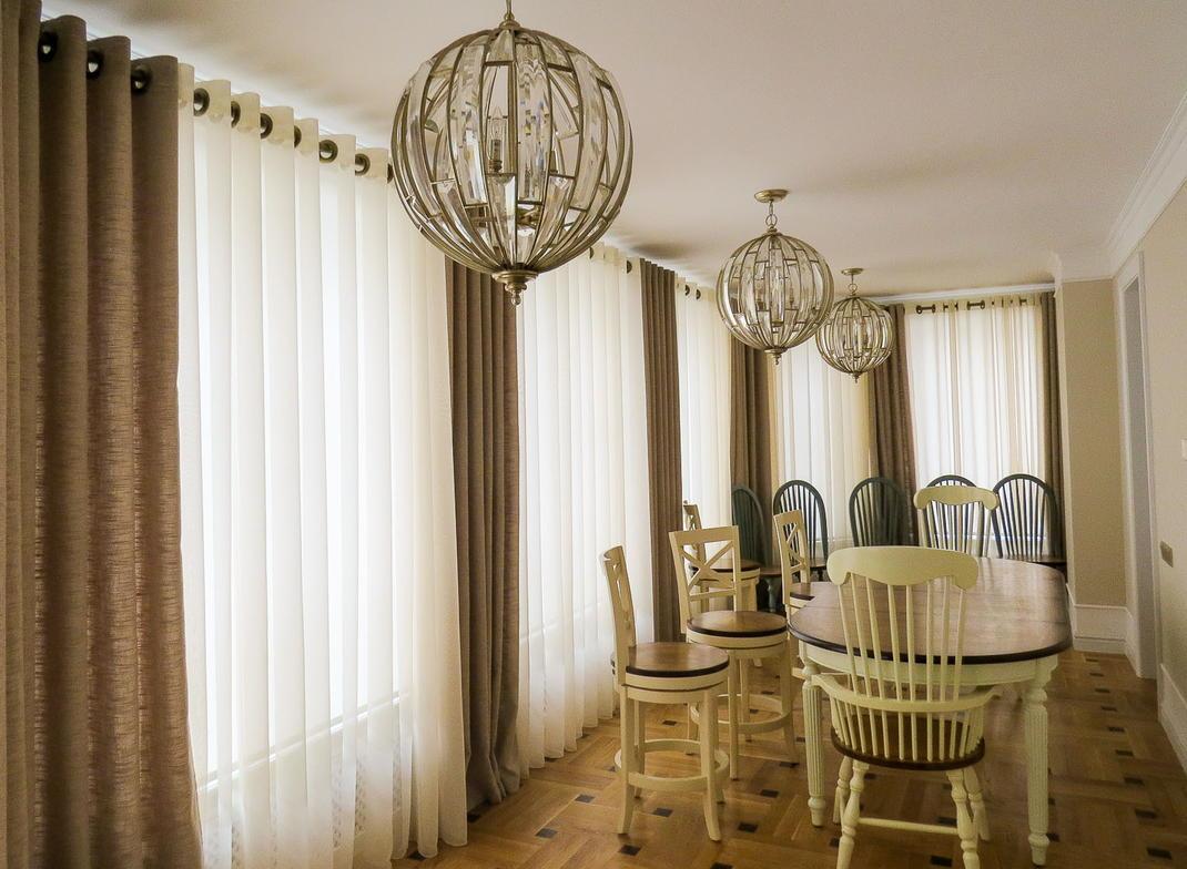фото красивых штор в столовую элемент таит